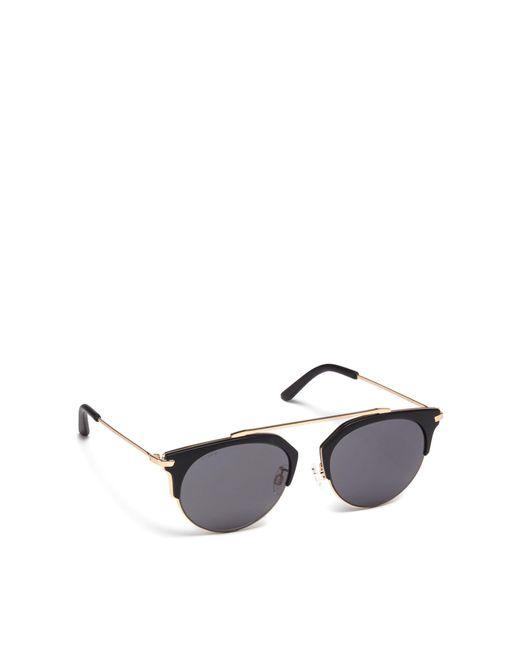 9b34071adfc7f Pilgrim Gold Sunglasses In  lotus  Round Lyst Black Plastic 1OqU1war