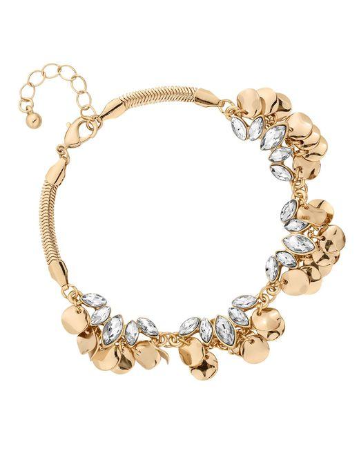 Matthew Williamson - Metallic Gold Crystal Coin Cluster Bracelet - Lyst