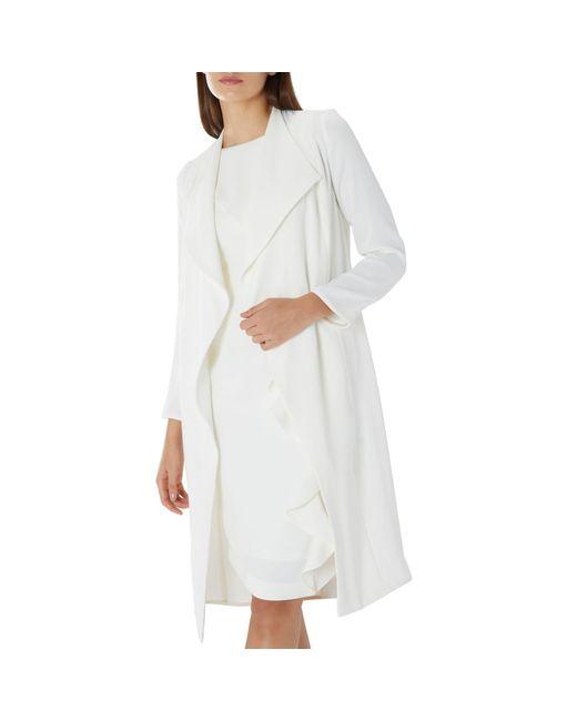 Coast - Ivory White 'shanie' Drape Jacket - Lyst