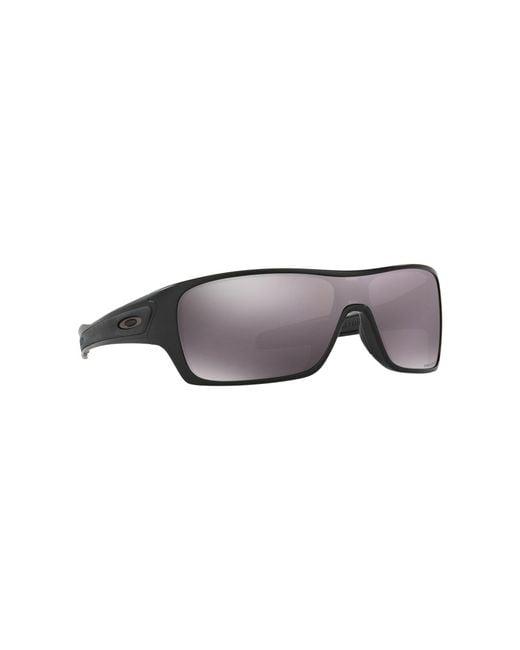 93bbd60e1f Oakley - Matte Black  turbine Rotor  Oo9307 Rectangle Sunglasses for Men -  Lyst ...