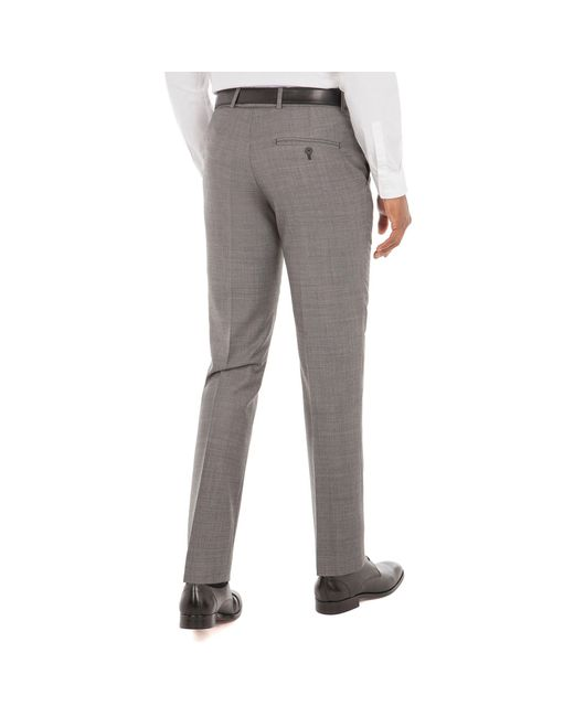 00e4ecc04201 ... J By Jasper Conran - Gray Grey Pick And Pick Wool Blend Tailored Fit Suit  Trousers