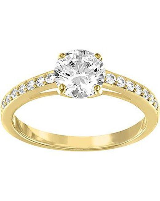 Swarovski   Metallic Attract Round Ring   Lyst