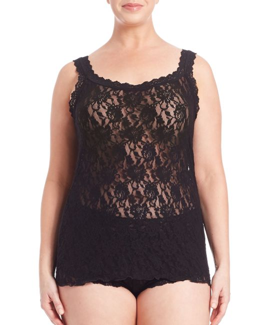 Hanky Panky   Black Plus Size Signature Lace Camisole   Lyst