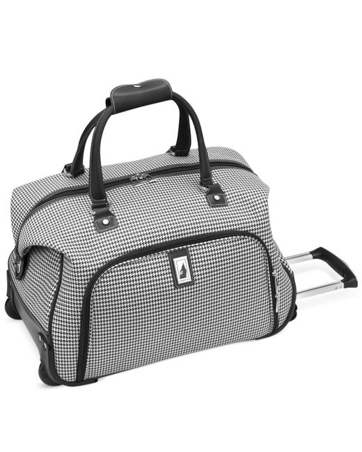 "London Fog | Black Cambridge 20"" Rolling Club Bag for Men 
