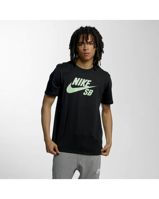 cdc6d1f8003558 Nike - Black T-shirt Sb Logo for Men - Lyst ...