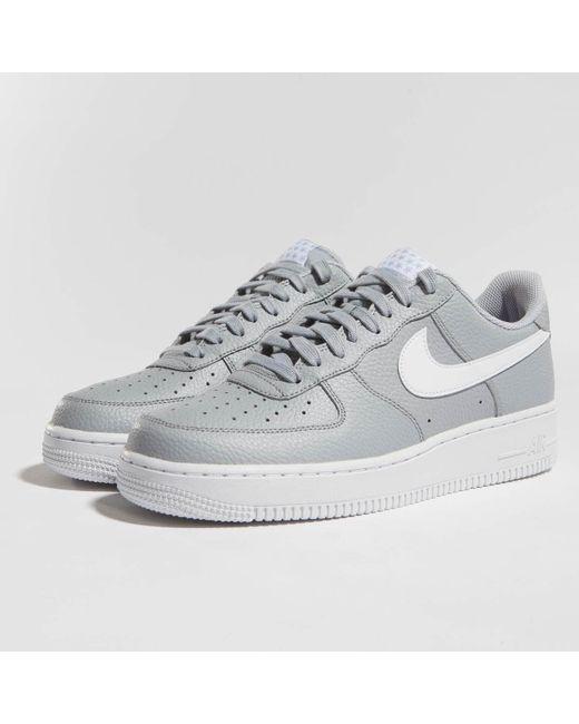 Nike - Gray Sneakers Air Force 1 '07 for Men ...