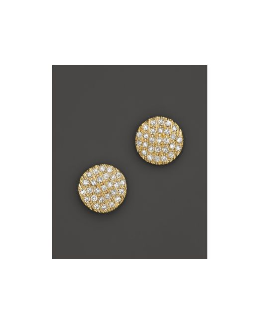 Dana Rebecca | 14k Yellow Gold Diamond Lauren Joy Medium Earrings | Lyst