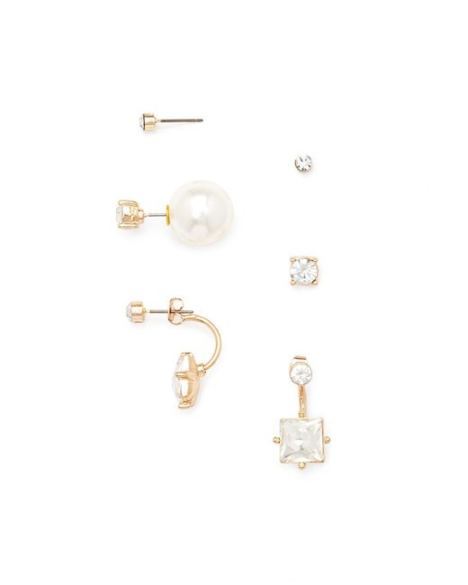 Forever 21 | White Rhinestone Earring Set | Lyst