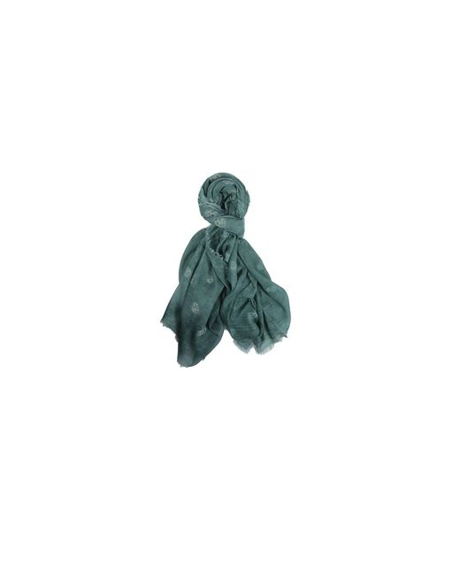 Richiami - Fresia Green Modal And Silk Scarf for Men - Lyst