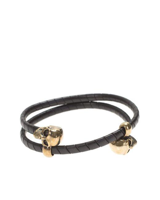 Alexander McQueen   Multicolor Leather Double Wrap Bracelet for Men   Lyst