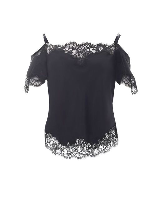 Givenchy | Black Floral Lace Blouse | Lyst