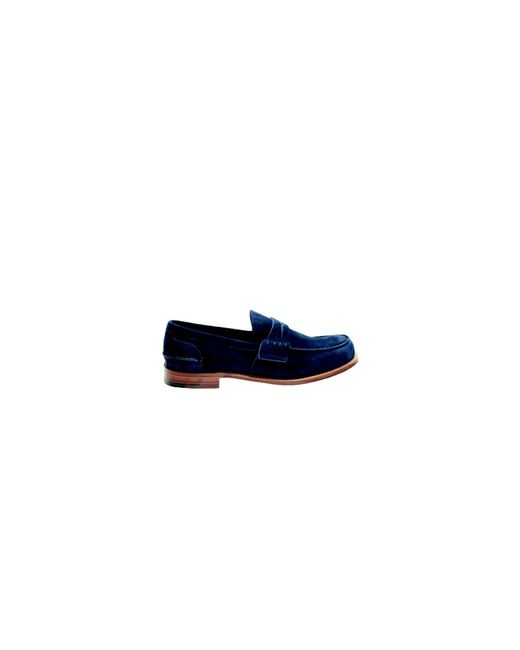 Church's | Dark Blue Suede Pembrey Loafers for Men | Lyst