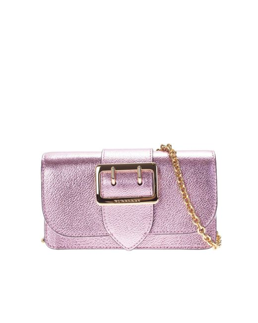Burberry | Pink Buckle Leather Mini Bag | Lyst