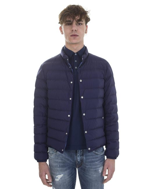 Moncler | Blue Navy Bomber Jacket Cyclope for Men | Lyst