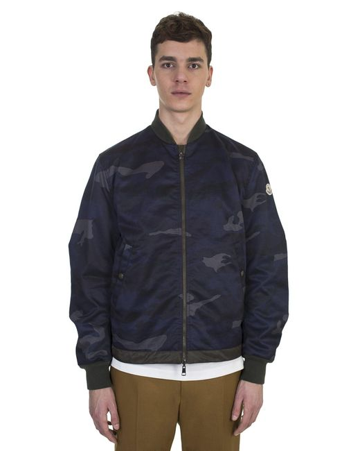 Moncler | Blue Graf Reversible Cotton And Nylon Camouflage Jacket for Men | Lyst