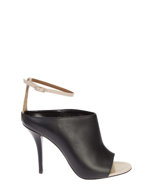 Givenchy | Black And Nude Leather Mule Shoes | Lyst