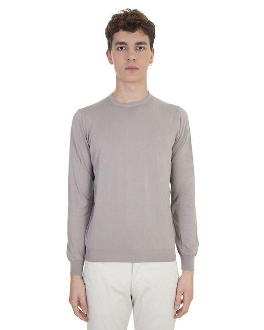 Dell'Oglio | Natural Beige Cotton Sweater for Men | Lyst