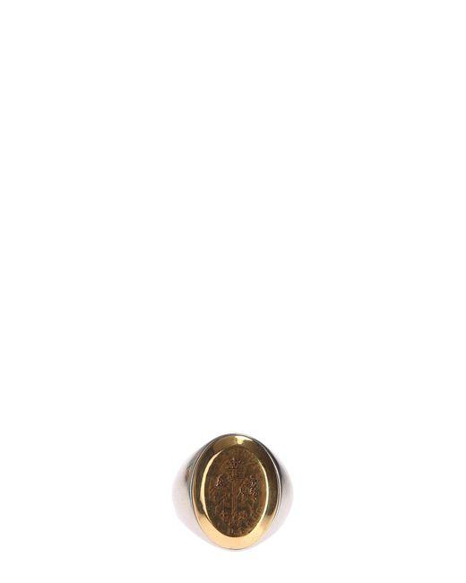 Alexander McQueen   Metallic Metal Signet Ring   Lyst