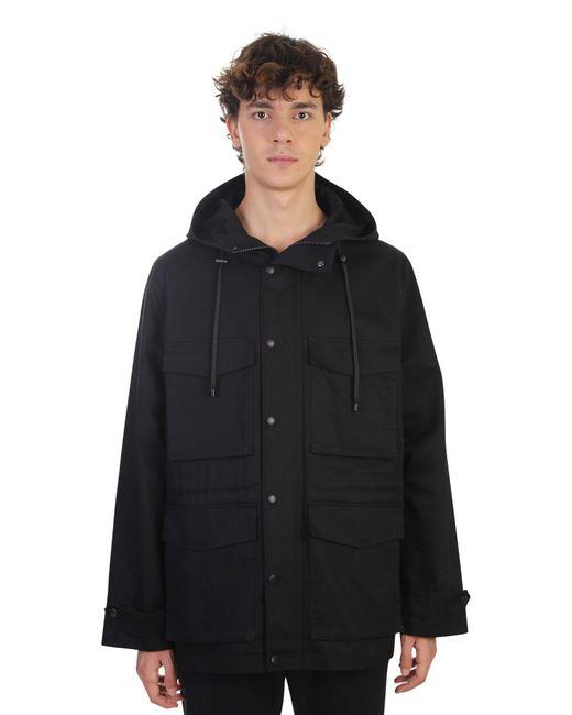 AMI | Black Cotton Gabardine 3/4 Jacket for Men | Lyst