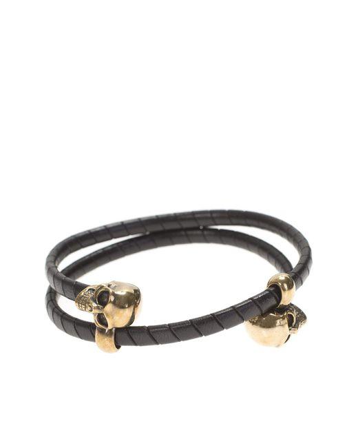 Alexander McQueen | Multicolor Leather Double Wrap Bracelet for Men | Lyst