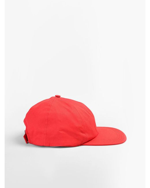 Off-White C O Virgil Abloh Cotton Canvas Baseball Hat in Red for Men ... 2f8d0421f1b0