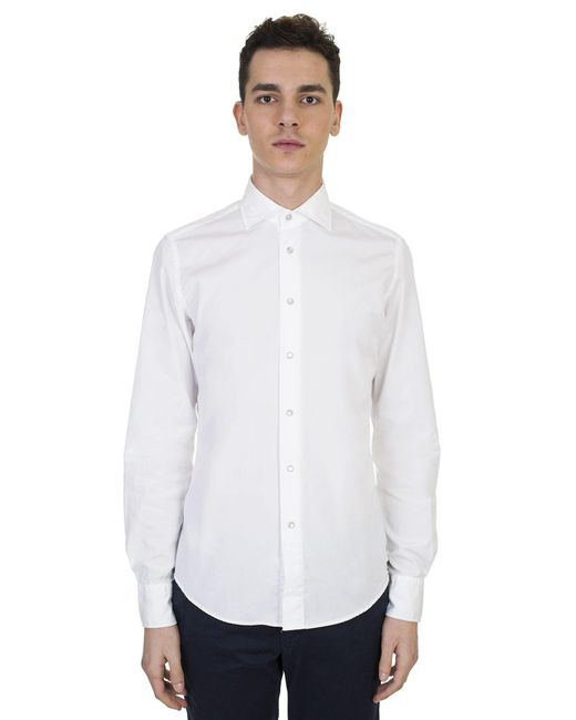 Dell'Oglio - White Cotton Shirt for Men - Lyst