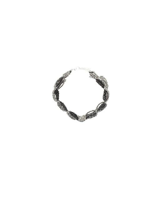Night Market - Black And Silver Choker Necklace - Lyst
