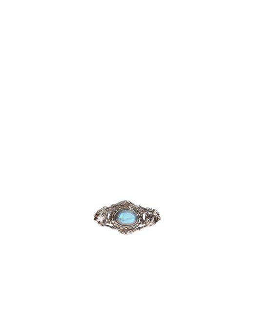 Alexander McQueen | Metallic Brass And Swarovski Ring | Lyst