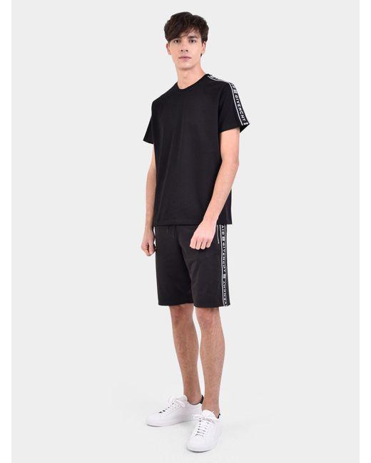 401f9fc4db09 ... Givenchy - Black Logo Bands Cotton T-shirt for Men - Lyst ...