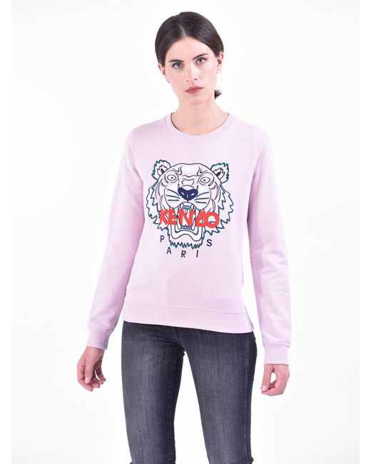 KENZO - Multicolor Embroidered Cotton Sweatshirt - Lyst
