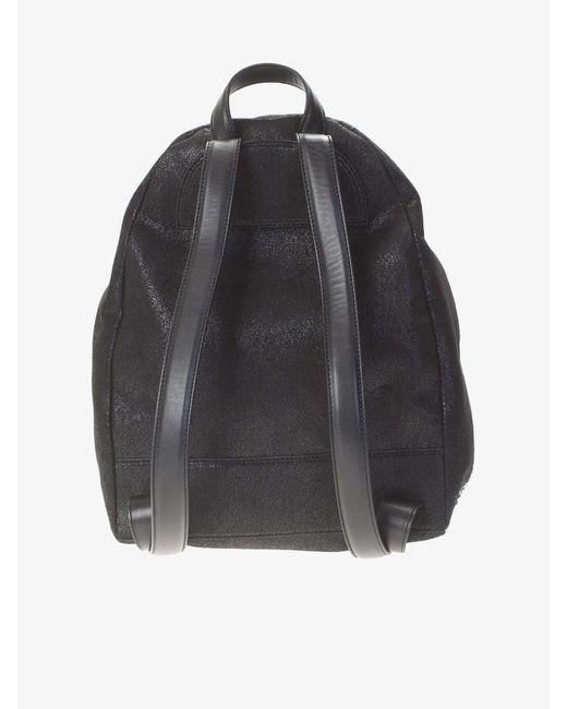 72f135df9b4f ... Stella McCartney - Black Falabella Shaggy Deer Faux Leather Backpack -  Lyst ...