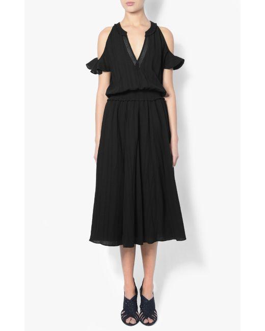 Derek Lam | Black Cap Sleeve Dress | Lyst