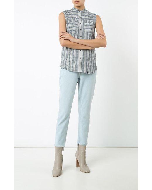 Derek Lam | Blue Sleeveless Button-down Shirt | Lyst