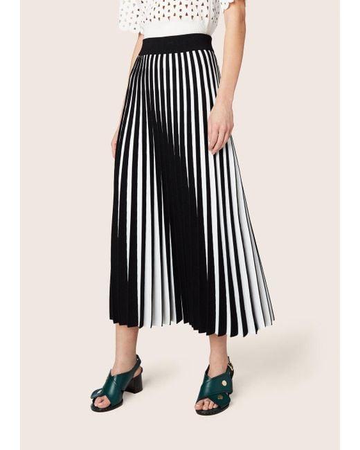Derek Lam - Black Pleated Stripe Skirt - Lyst
