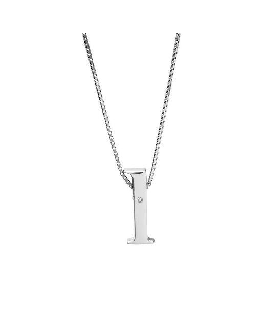 Azendi | Metallic Letter L Sterling Silver Diamond Pendant | Lyst