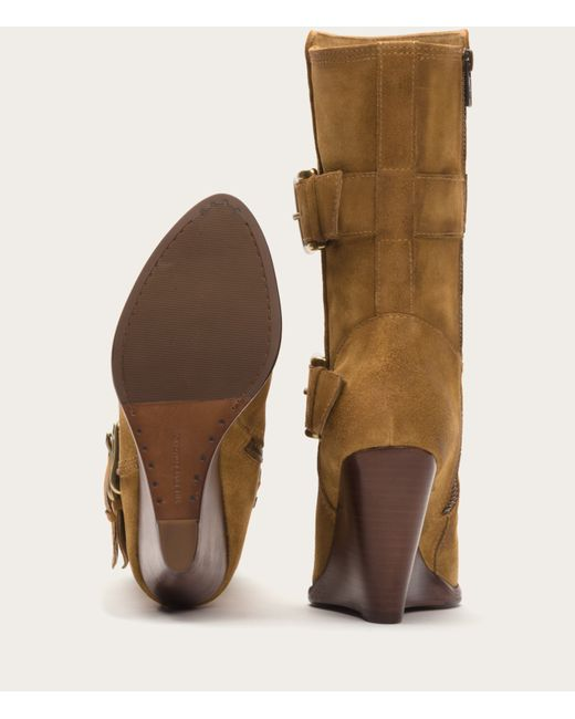 Frye | Natural Cece Buckle Wedge | Lyst