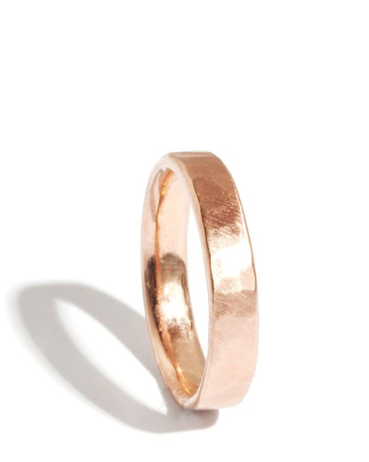 Melissa Joy Manning | Metallic 14k Rose Gold Hammered Texture 4mm Ring | Lyst