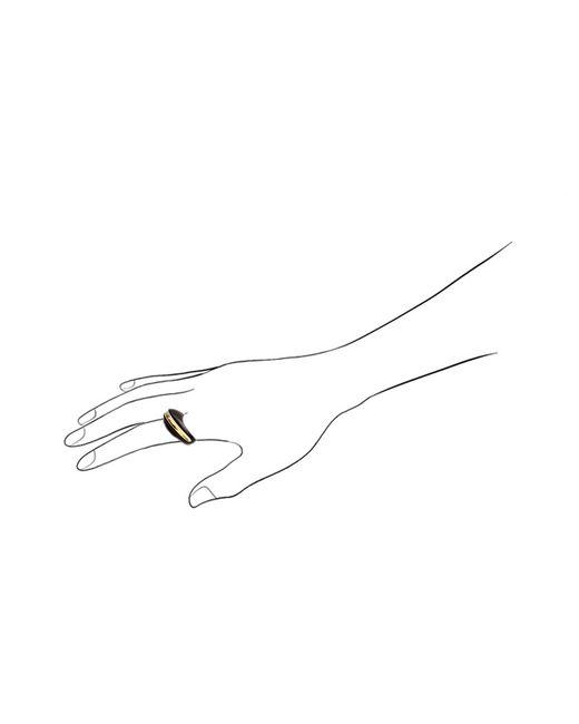 Kara Ross | Black Gold, Diamond And Ebony Section Ring | Lyst