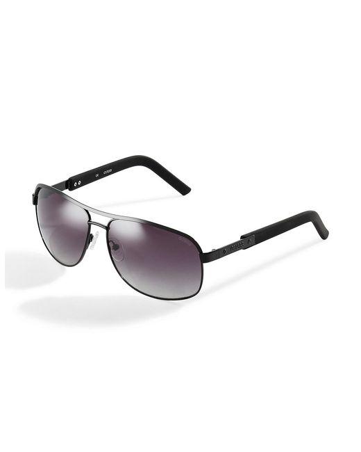 Guess | Black Rectangular Aviator Sunglasses for Men | Lyst
