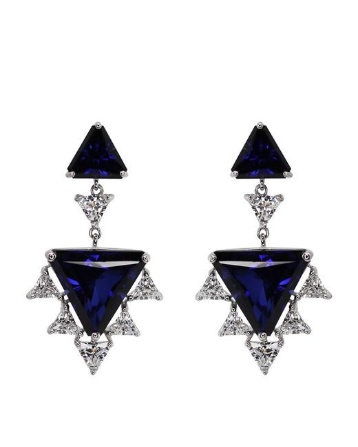 Carat* | Blue Sylix Sapphire Cocktails Drop Earrings | Lyst
