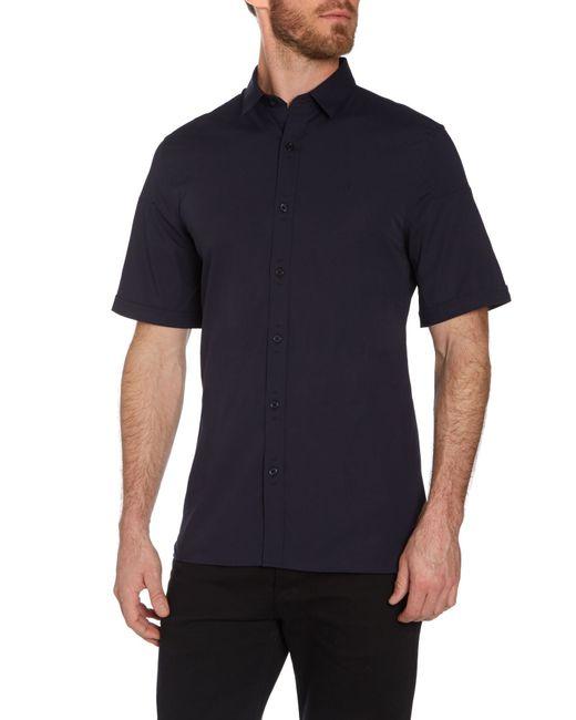 Calvin Klein | Blue Wings Short Sleeve Poplin Shirt for Men | Lyst
