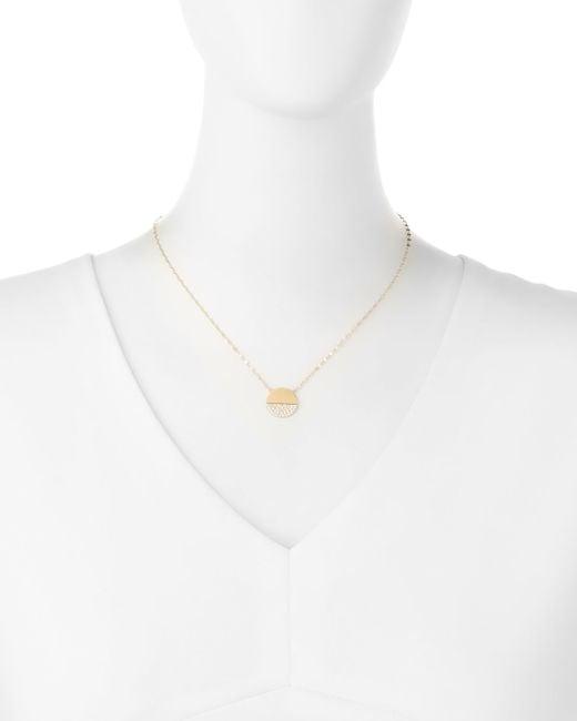 Lana Jewelry | Metallic 14k Illusion Disc Diamond Pendant Necklace | Lyst