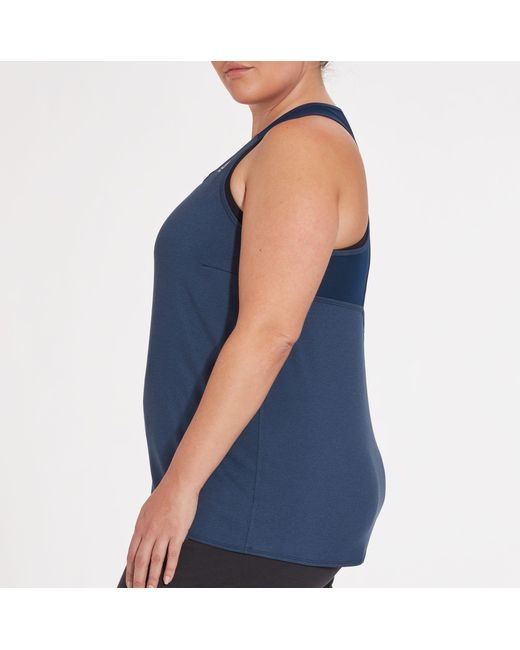 4a47698e51dd5c ... Reebok - Blue Plus Size Keyhole Performance Tank Top - Lyst ...