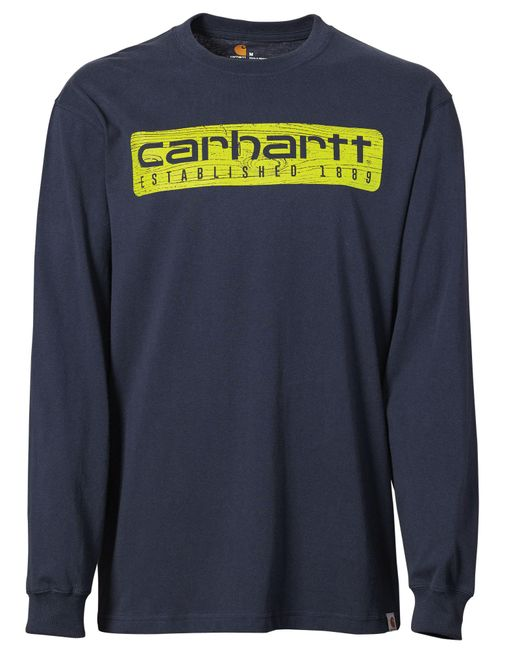 Carhartt - Blue Workwear Graphic Wood Plank Long Sleeve Shirt for Men - Lyst