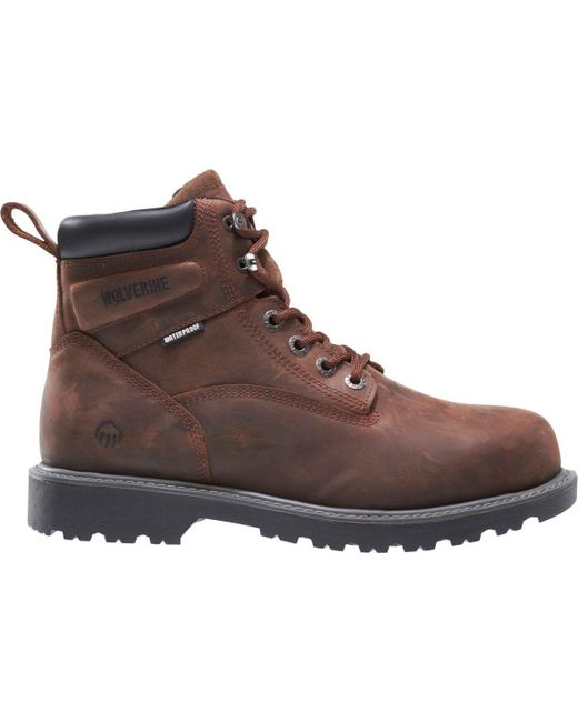 e0b3d7c8f8d Lyst - Wolverine Floorhand 6'' Work Boots in Brown for Men - Save 7%