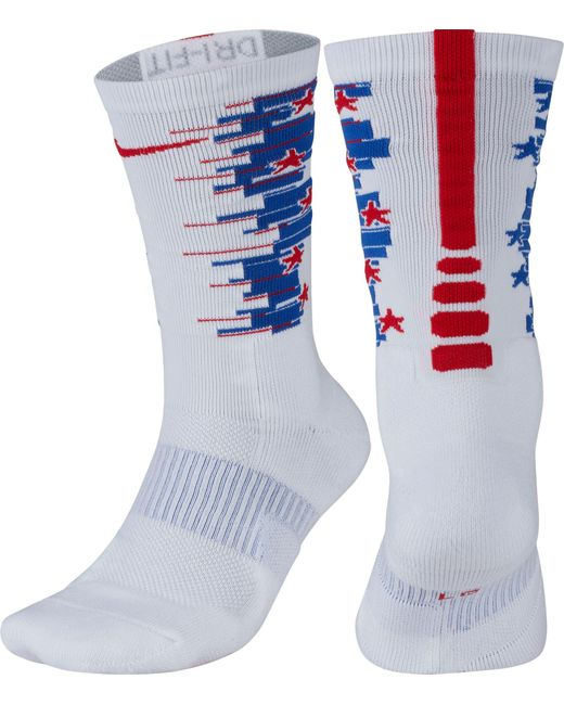 Nike - White Elite 1.5 4th Of July Crew Socks for Men - Lyst