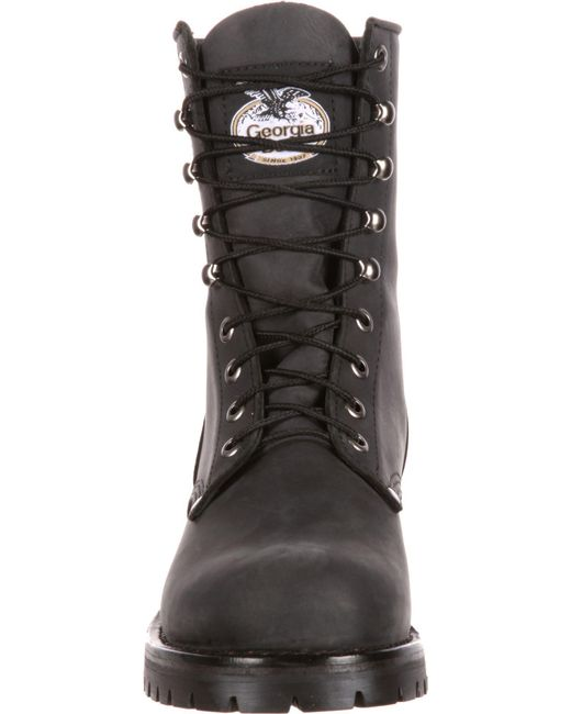 3efc74f8abc ... Georgia Boots - Black Georgia Boot Logger Work Boots for Men - Lyst ...