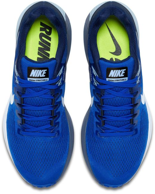 ... Nike - Blue Air Zoom Structure 21 Running Shoes for Men - Lyst ...