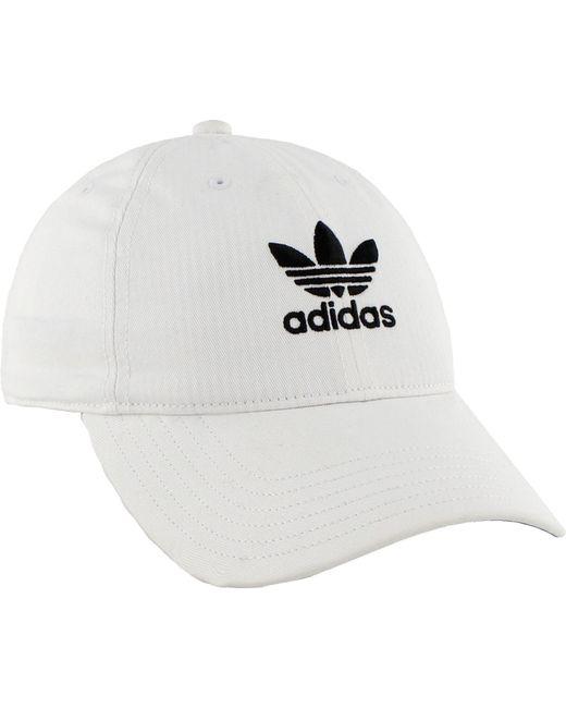 ... Adidas - White Originals Relaxed Strapback Cap - Lyst 828d5169fe31