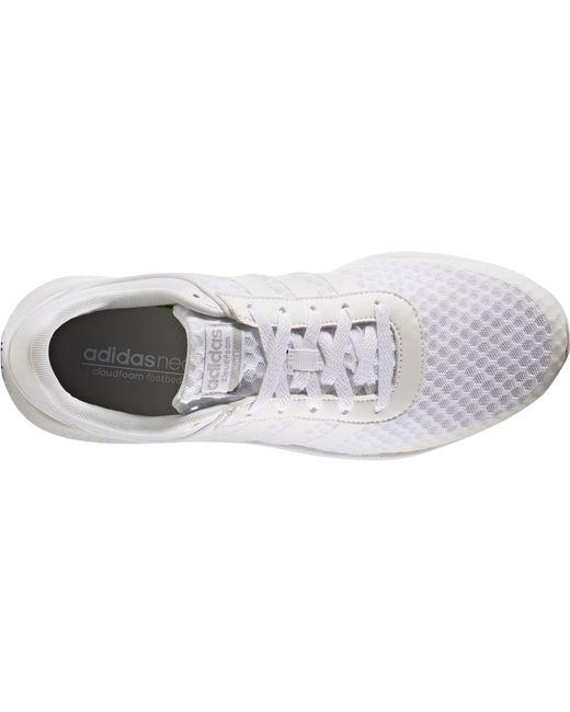lyst adidas neo cloudfoam corsa occasionale scarpe bianche per gli uomini.